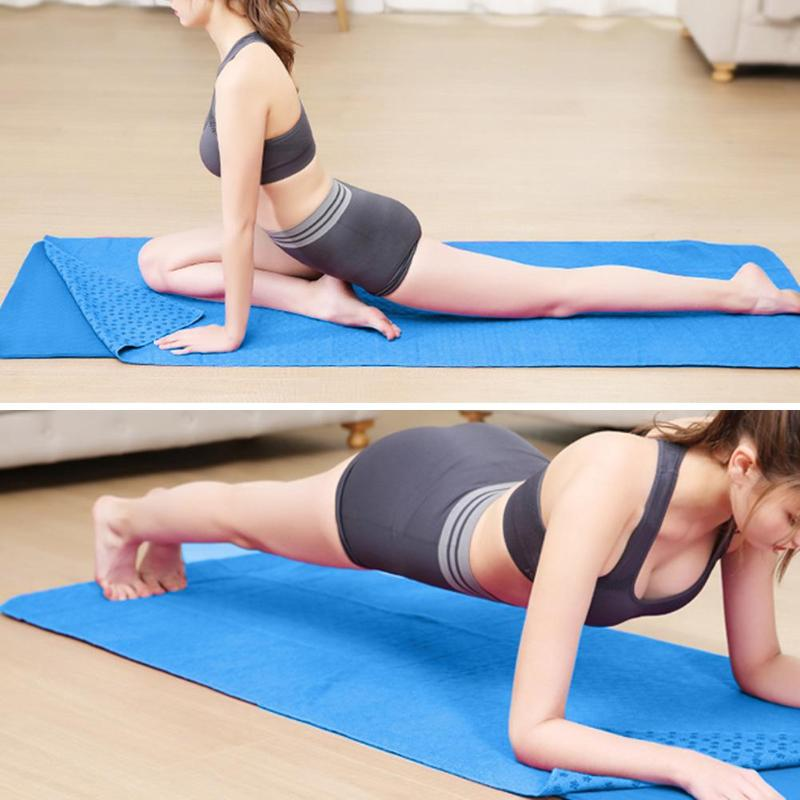@1  Non Slip Yoga Коврик-Обложка Полотенце Одеяло Спорт Фитнес-Упражнения Пилатес Pad 4 Цвета Качества ①
