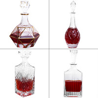 High end Wine Whiskey Decanter Glass Wine Bottle Drink for Home Bar Party Wedding Supplies Luxury Gifts 700ml 800ml 900ml