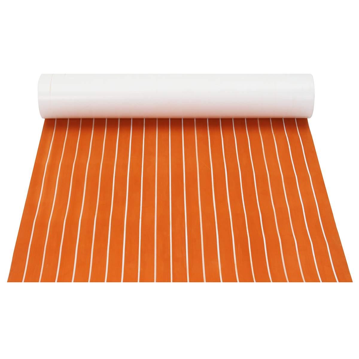 1200x2000x6mm Self-Adhesive Foam Teak Decking EVA Foam Marine Flooring Faux Boat Decking Sheet Marine Orange White Line1200x2000x6mm Self-Adhesive Foam Teak Decking EVA Foam Marine Flooring Faux Boat Decking Sheet Marine Orange White Line