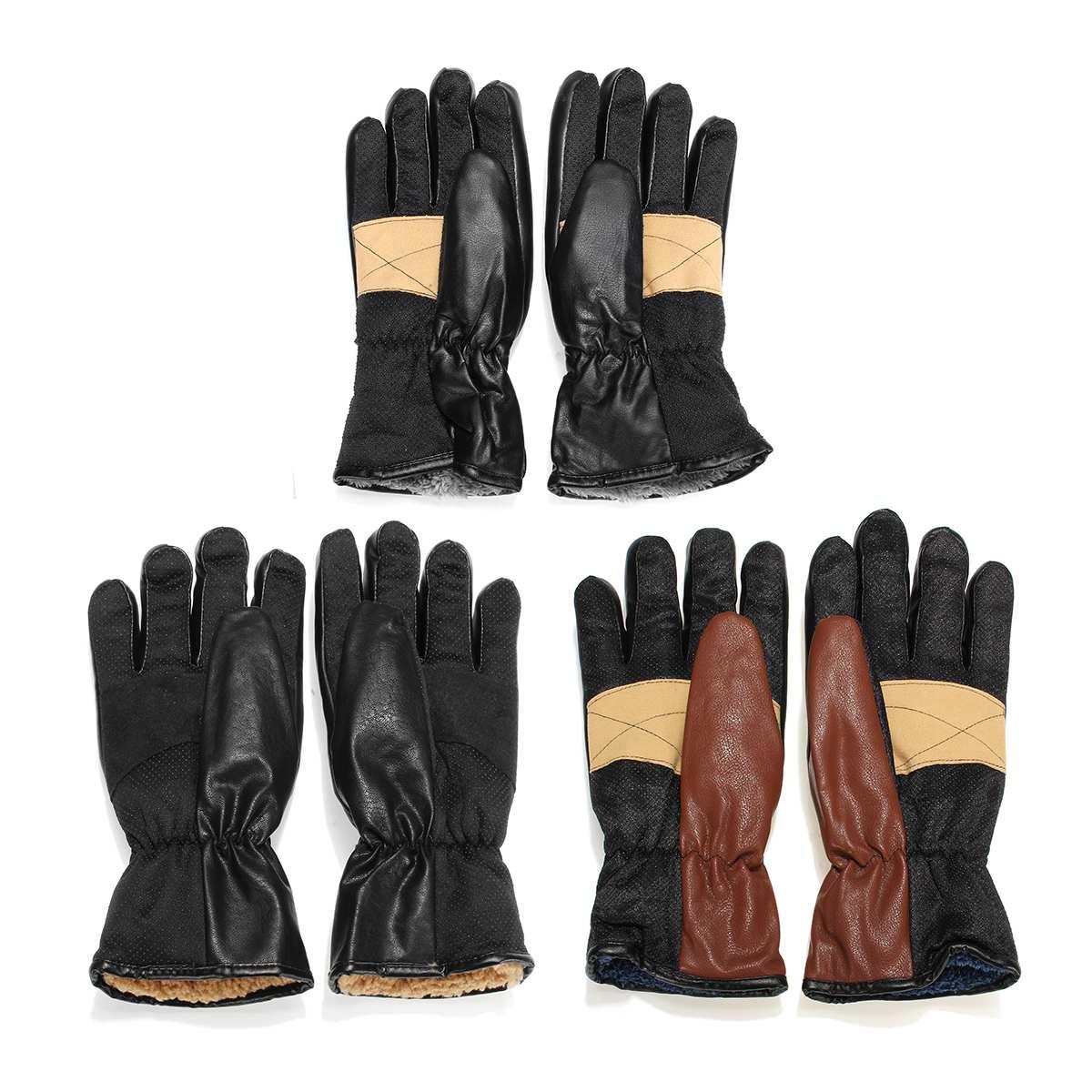 Gants chauffants électriques d'hiver PU cuir femmes hommes Rechargeable 3000 mAh batterie mitaines chauffantes chaudes intérieur épaissir gants en coton - 6
