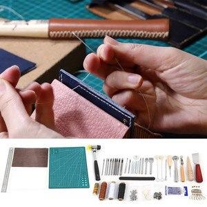Image 2 - Ensemble doutils de couture pour lartisanat du cuir 6/18/27/42 pièces, poinçon de couture, de coupeur, sculpture et couture