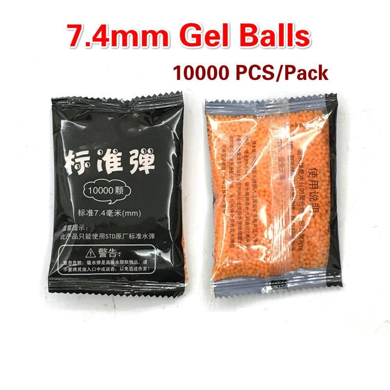 10000pcs 7mm Gel Balls Ammo Crystal Water Bead For Gel Water Toy Guns Blasting Toys Hardened Bullet Orange