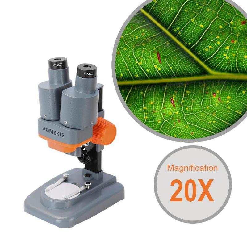 Binocular Stereo Microscope 20X 40X Above LED Lights PCB Solder Tool 2X lense Mobile Phone Repair