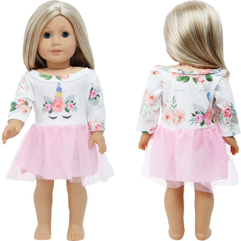 Handmade Lace Dress Wedding Evening Party Gown Fashion Flower Skirt Clothes For American Girl Doll Dress Up Accessories DIY Toy