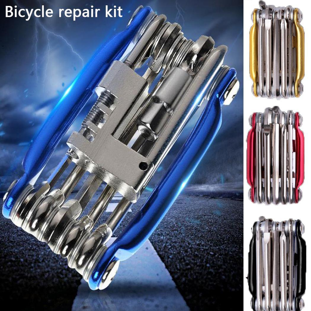 11 PCS Bicycle Repair Tools Kits Chain 0.19 kg Home, Outdoors, etc. Cutter Multifunctional Steel Tools
