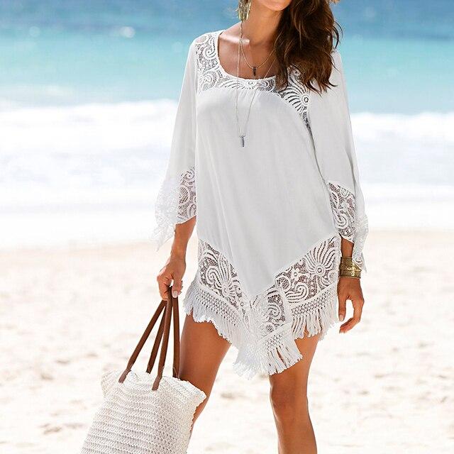 Пляжная накидка, купальник, накидка, туники для пляжа, парео для женщин 2018, вязание, полые, Saida De Praia, парео, одежда, летнее платье