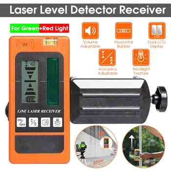 Laser Level Detector Receiver for Levelsure for Huepar Electronic Leveling 2/5/12 Lines Vertical Horizontal for Red/Green Light - DISCOUNT ITEM  47% OFF All Category