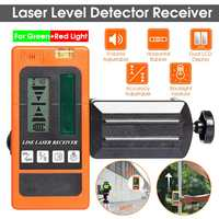 Laser Level Detector Receiver Ourdoor Indoor Electronic Leveling 2/5/12 Lines Vertical Horizontal for Red/Green Light