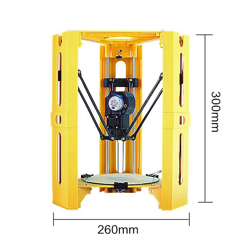 2017 Date Mini bricolage Assemblé Bureau 3D Imprimante 100*100mm Taille D'impression Soutien Hors-ligne 1.75mm 0.4mm Buse