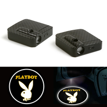 цена на Courtesy Fit For Playboy Clothes LED Car Logo Door Ghost Shadow Laser Projector Light 12V