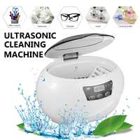 600ml 50W Ultrasonic Cleaner Cleaning Machine Intelligent Control Ultrasonic Cleaner Bath for Jewelry, diamond, Glasses