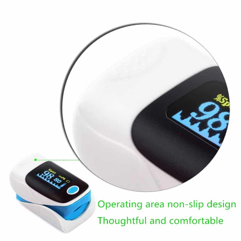 JZIKI medical household portable digital fingertip pulse oximeter blood oxygen saturation meter finger SPO2 PR monitor in Blood Pressure from Beauty Health