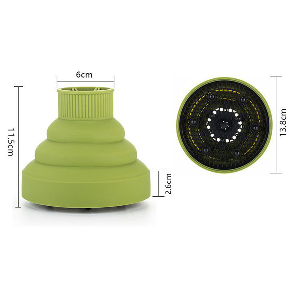 Silicone Universal Hair Diffuser Blower Hairdressing Salon Curly Hair Folding Diffuser Cover 4 Colors 3