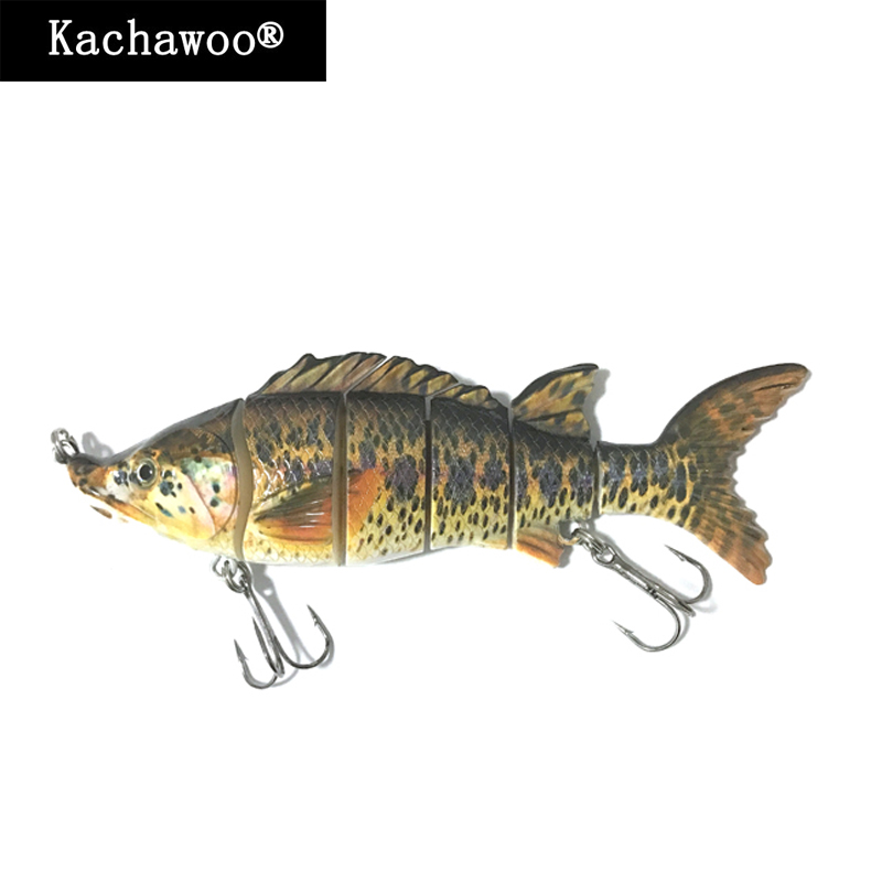 6 Section Fishing Lures Sturgeon Swimbait 6 Inch 62g Multi Jointed Hard Bait Fish Lures Hunter for Bass Pike Muskie Perch Killer