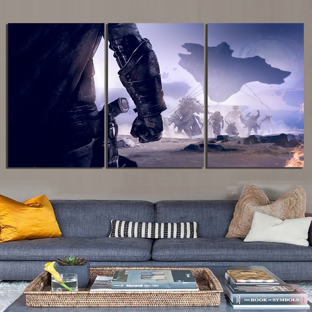3 Piece Fantasy Art HD Pictures Destiny 2 Game Poster Artwork Canvas Paintings for Wall Decor