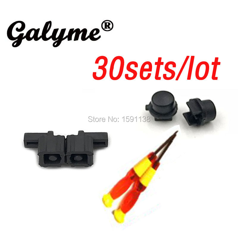30 sets Hot XY Screwdrivers Handle Clasp Button Slider Buckle Lock For Switch Joy Con Clasp Button for Switch NS Game Console