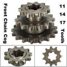 T8F 8 мм 11/14/17 зуб передний зубчатый валик звездочки Cog для 47cc 49cc мини-мото-байк