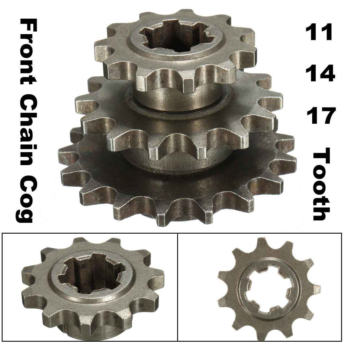 T8F 8mm 11/14/17 Tooth Front Pinion Sprocket Chain Cog for 47cc 49cc Mini Moto Dirt Bike