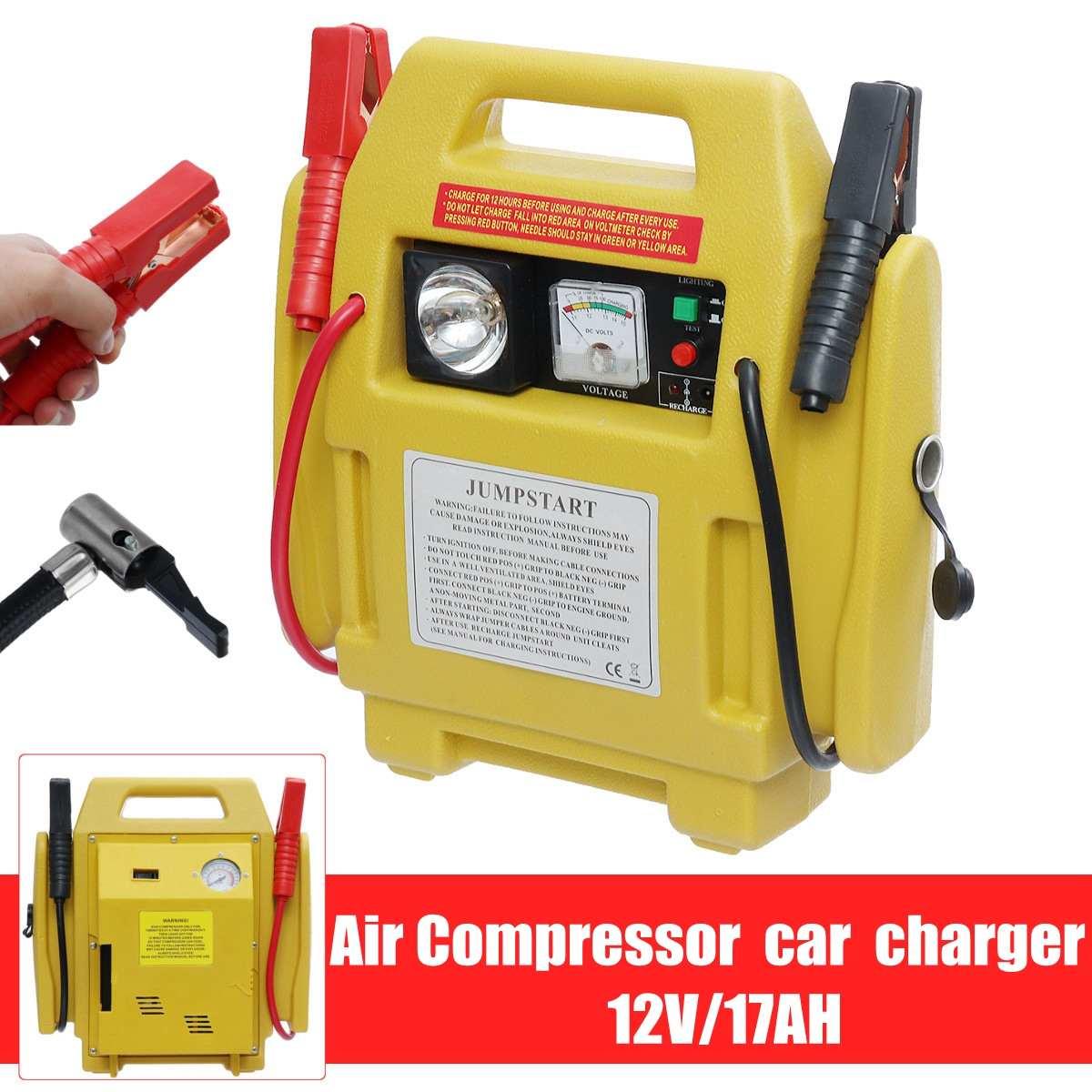 Démarreur voiture de Saut Booster 12 V Voiture chargeur de batterie batterie externe de Départ Outil Kit compresseur d'air avec lampe led d'urgence Auto Pompes - 3
