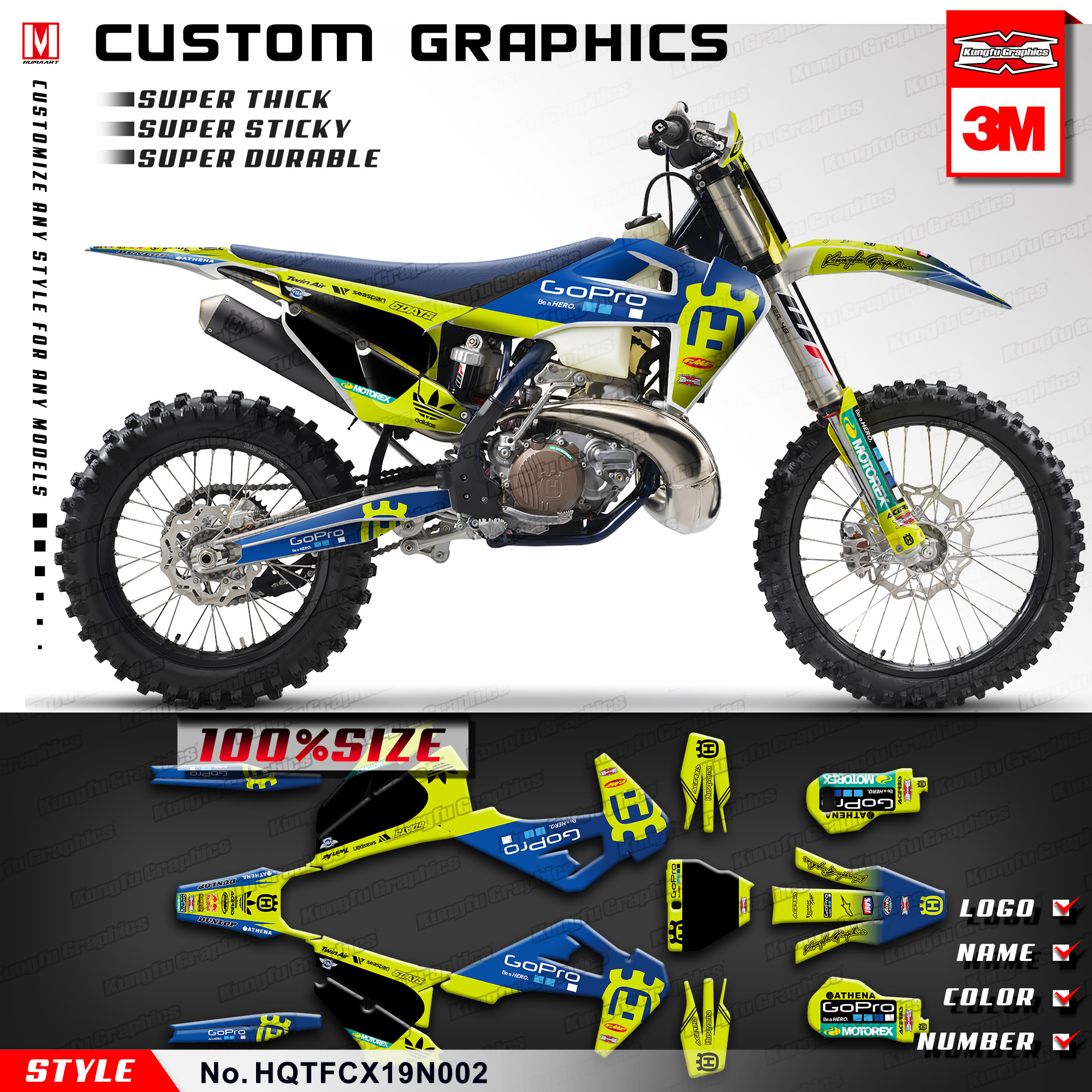 Aufkleber Sticker Autocollant Adesivi Aufkleber Decal Motocross Husqvarna