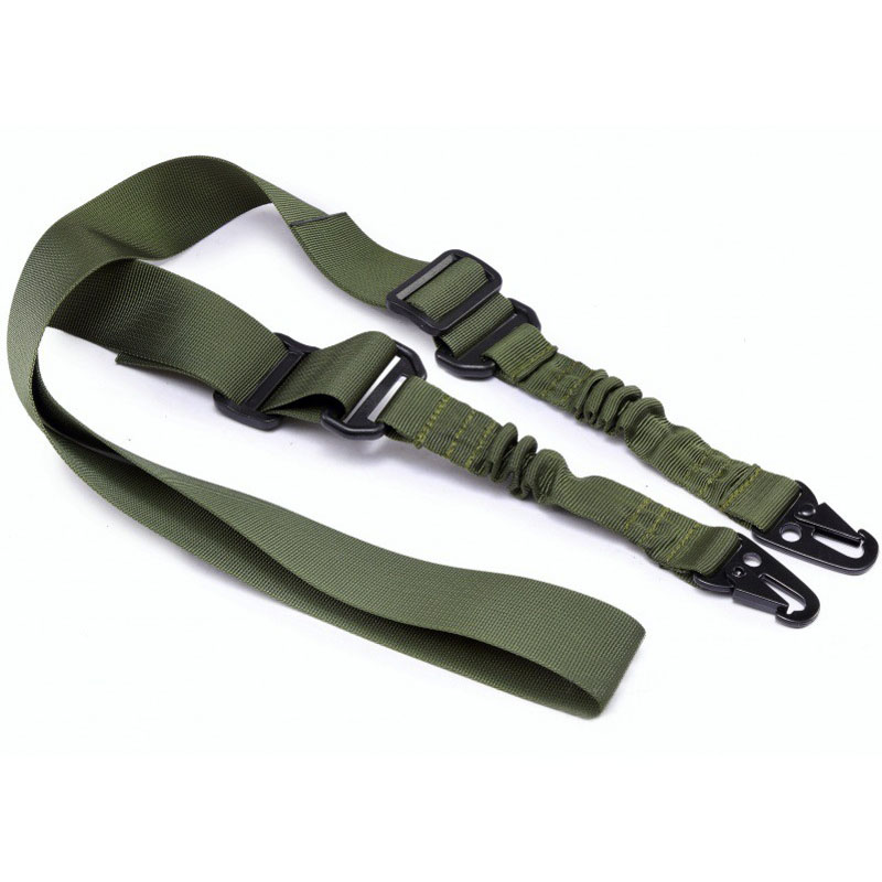 Tactical 2 Point Bungee Rifle Gun Sling Strap 1.4m Airsoft Military Hunting System Universal Strap Heavy Duty-in Hunting Gun Accessories from Sports & Entertainment