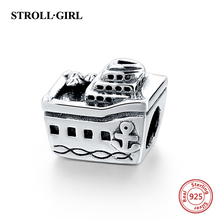 Hot Sale Fits Pandora Charms Bracelet 925 Sterling Silver Cruise Boat Charm Beads DIY Necklaces & Pendants Jewelry Making