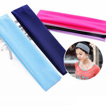 2018 Newest Women Yoga Headband Girls Sweatbands Sports Headbands Elastic Solid Fitness Dropshipping Fit Item(China)