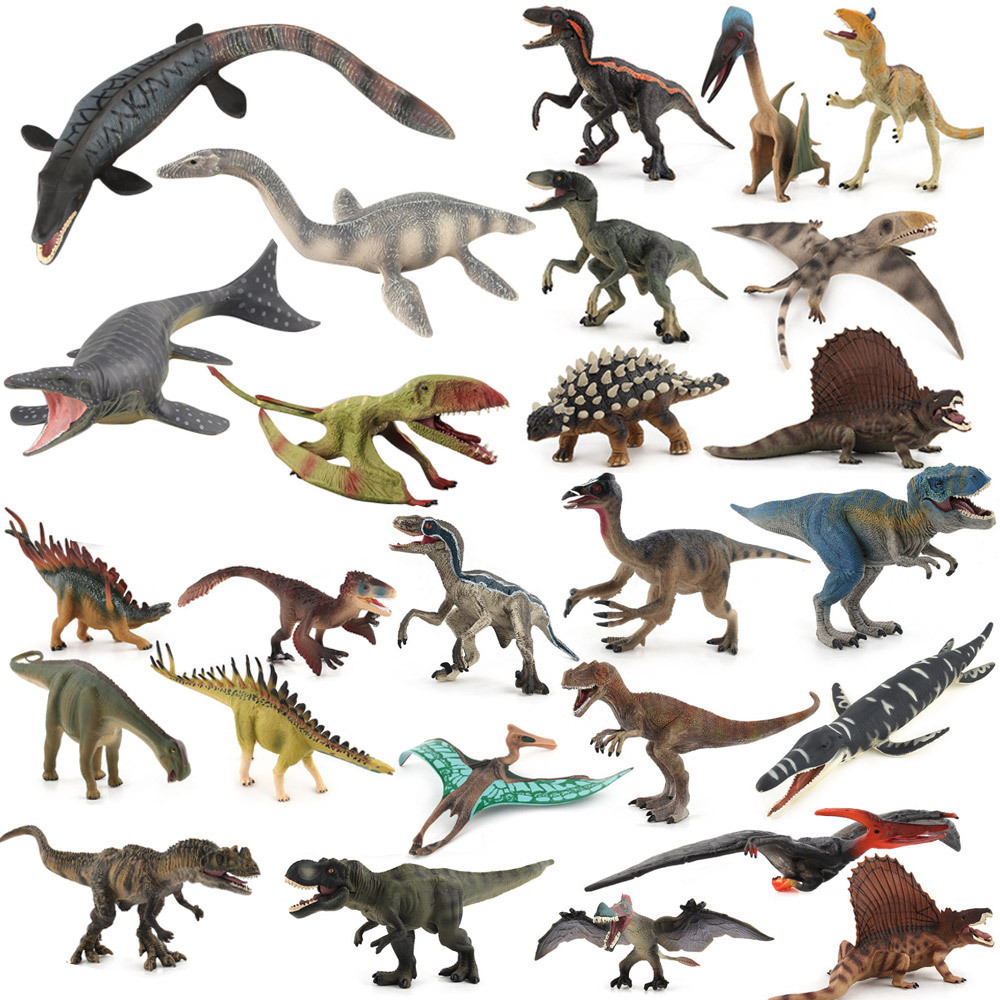 24 x Kids Small Plastic Figures Wild Dinosaur Animals Dinosaur Model Toys Gifts