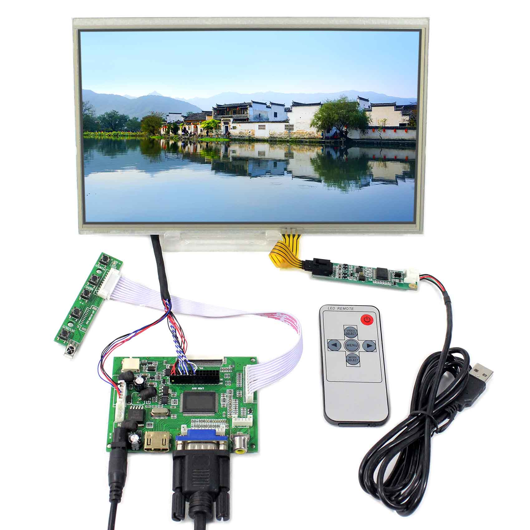 10.1 Tocuh Display LCD 1024x600 LTN101NT02 B101AW03 N101L6 HDMI DVI VGA Consiglio LCD 10.1 Schermo LCD10.1 Tocuh Display LCD 1024x600 LTN101NT02 B101AW03 N101L6 HDMI DVI VGA Consiglio LCD 10.1 Schermo LCD