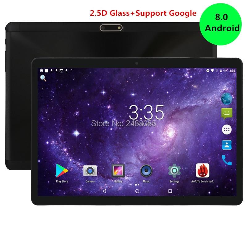 2019 Nouveau Android 8.0 OS 10 pouce tablet pc Octa Core 4 gb RAM 32 gb ROM 8 Noyaux 1280*800 IPS 2.5D Verre Écran Comprimés 10.1 Cadeaux