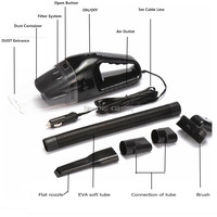 Car Vacuum Cleaner 120W Portable Handheld for vw golf 4 alfa romeo 159 qashqai volkswagen polo renault scenic 2 vw golf 6 h7