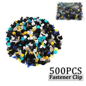 Image 3 - 500 pcs/set Mixed Fasteners Door Trim Panel Auto Bumper Rivet Car Clips Retainer Push Engine Cover Fender Fastener Clips