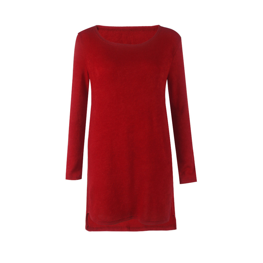 Autumn Winter Women Knitted Mini Dress Fashion Casual A Line Party beach dress Vestidos Femininos in Dresses from Women 39 s Clothing