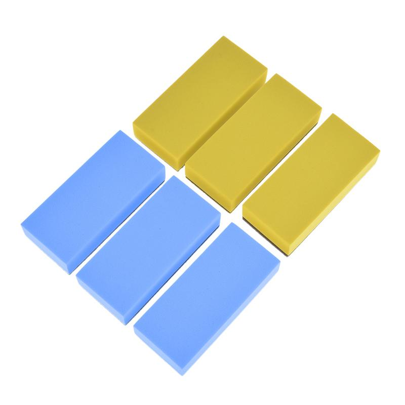 6pcs Car Wash Foam Lacquer Coating Sponges Car Maintenance Waxing Sponge For Glass Ceramic Coating Applicator Car Cleaning
