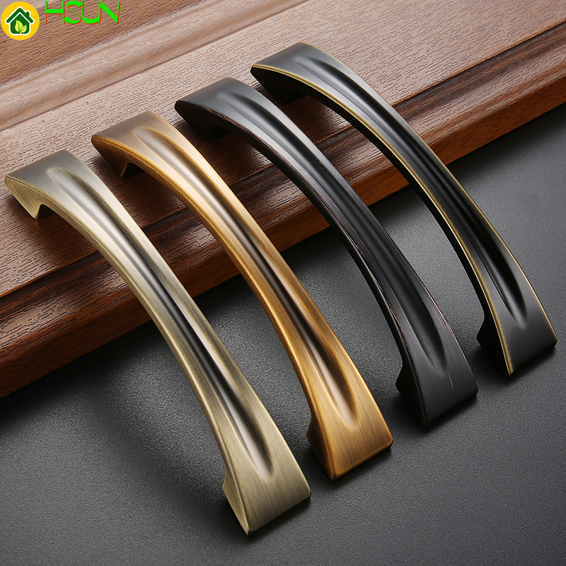 1pc 2018 New High  Quality Antique  Zinc Handles For  Furniture Drawer Cabinet Kitchen Pull Handles Knobs Handle Wardrobe