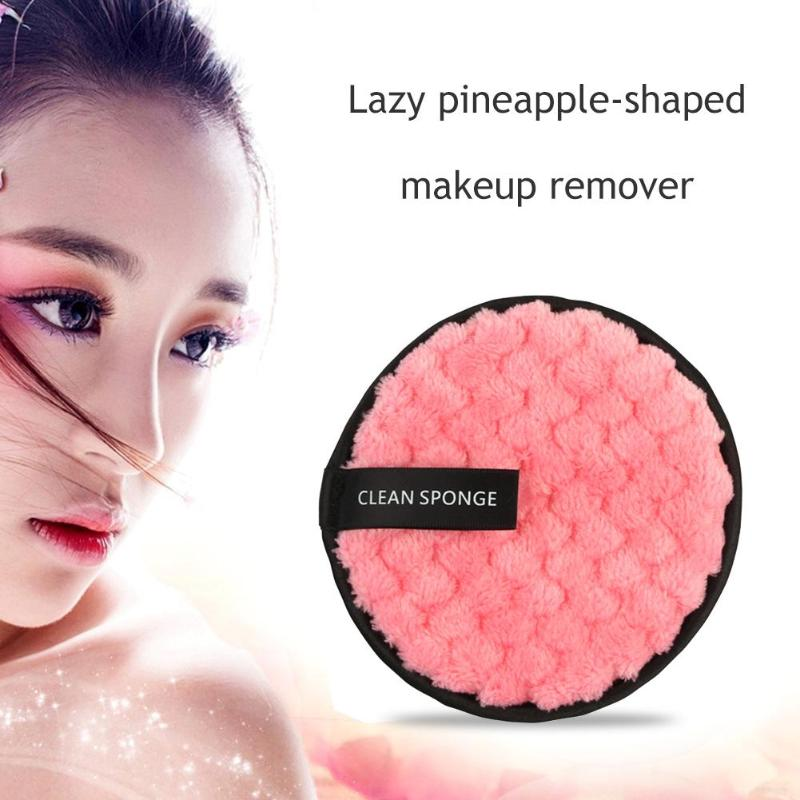 1PC Reusable Cotton Pads Make up Facial Remover Washable Wipe Pads Nail Art Cleaning Pads Soft Plush Face Washing Sponge 2