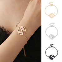 Lnrrabc Knot Chain Link World Map Bracelets Bangles Jewelry Globe