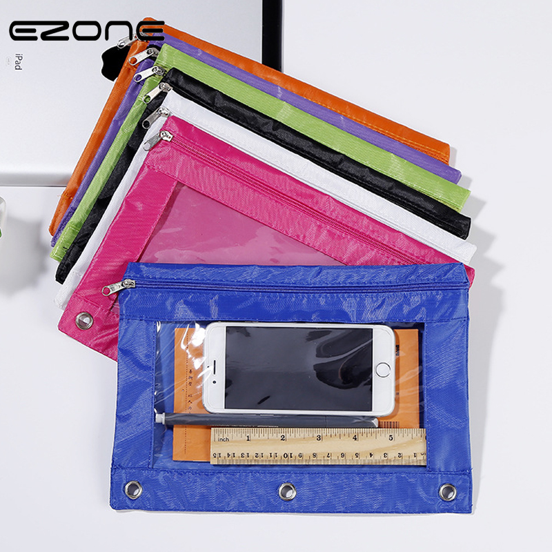 EZONE New Style Document Bag Three Hole Installable Candy Color File Bags Planner Organizer File Folder Business Office Supply