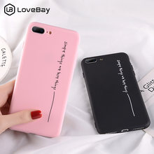 Lovebay Cartoon Simple Letter Case For iPhone X XR XS Max 8 7 6 6s Plus 5 5S SE Phone Case Soft TPU Back Cover For iPhone XS Max(China)