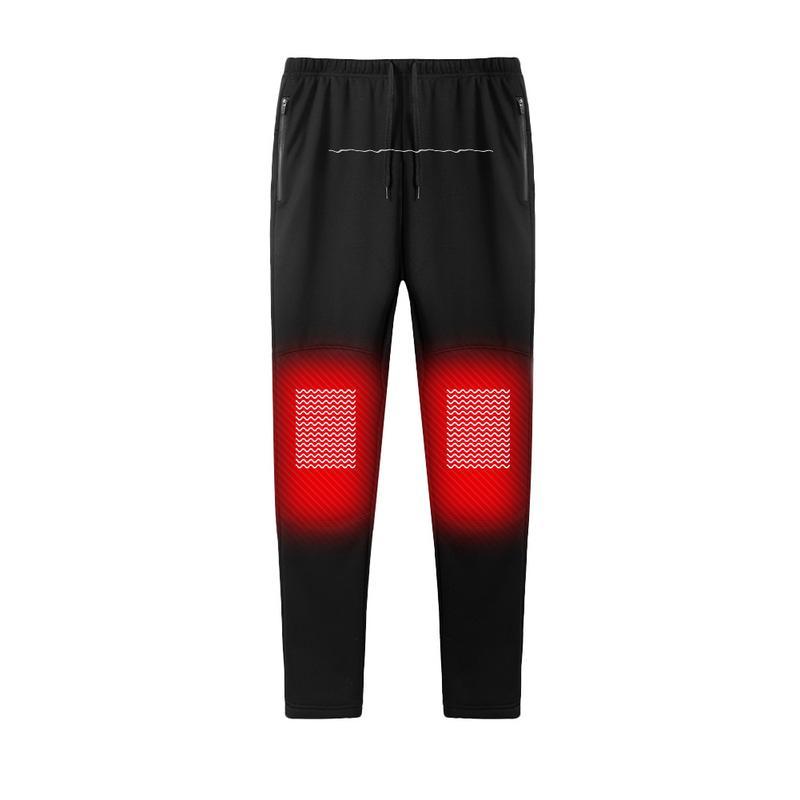 Nouveau hiver USB chargement Intelligent chauffage chaud pantalons hommes et femmes en Fiber de carbone pantalons chauffants Plus velours pantalons chauffants