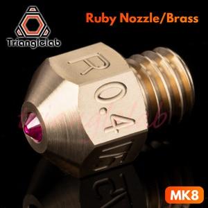 Image 2 - Trianglelab MK8 rubi bico 1.75 MILÍMETROS Compatível com especial de alta temperatura materiais PEEK PEI PETG ABS NYLON etc bocal ruby