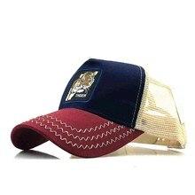 Summer Embroidered Cotton Mesh Animals Men Baseball Cap Hats