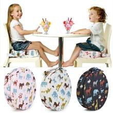 Kids Increased Chair Pad Anti-skid Baby Dining Chair Cushion Booster Seats Cute Animals Print Adjustable Booster Seats Round(China)