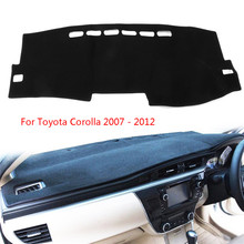 Dashboard Sun Cover for Toyota Corolla 2007-2012 Car Dash Mat Carpet Dashmat Pad Direct Fit Protects UV Rays Eliminates Cracking