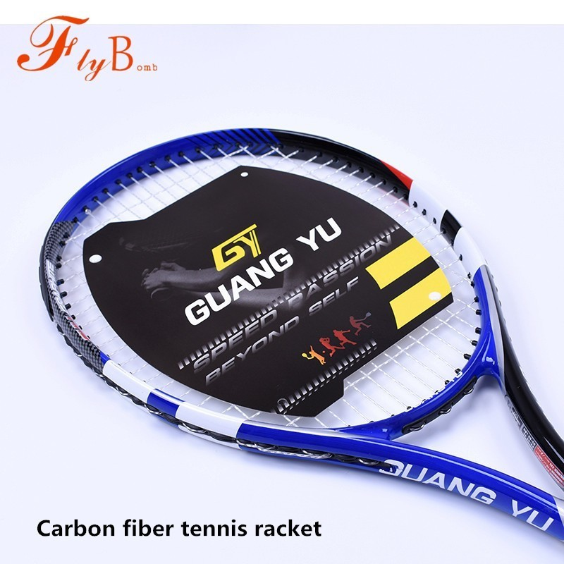Universal Super Light En Fiber De Carbone Raquette De Tennis Qualiy Divertissement Formation Tennis De Compétition Tiré Seul Raquette Q1319CMD