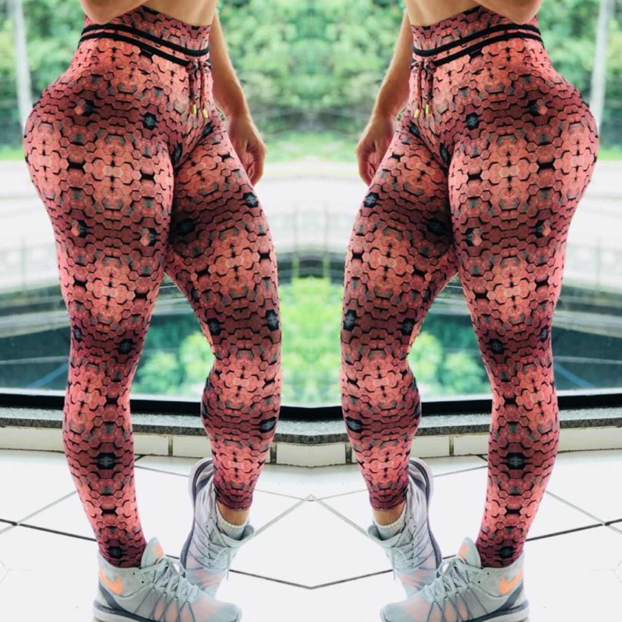 61aa8df5fdfb1 ... Leggings Femme Fitness Push Up 3D Printed Leggings Women High Waist  Workout Legging Pants Fashion Female ...