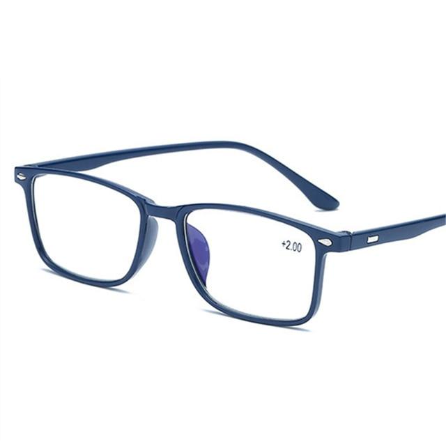 5dc86011812 Men Reading Glasses Blue Film Glasses 1.5 TR90 Presbyopia Women Reading  Eyeglasses Female Male Presbyopic Glasses +2.0 2.5 3.0