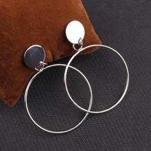 2019 New Arrive Elegant Earrings Large Ring Earrings Stud Earrings Jewelry Simple For Women Accessories Jewelry(China)