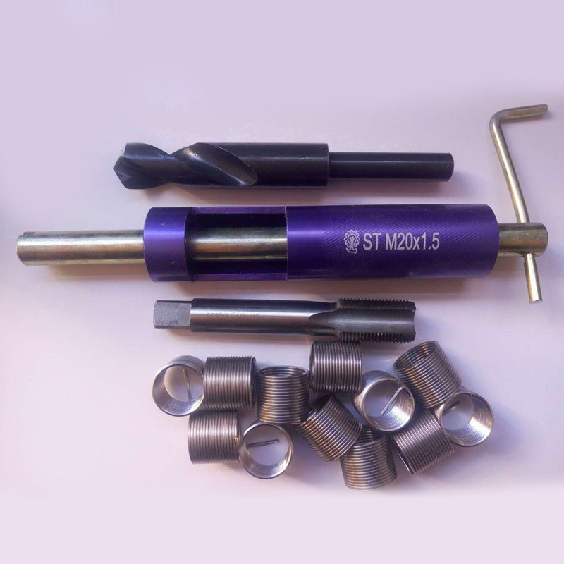 Nouveau Kit de réparation de filetage M20x1.5 de haute qualité outil d'insertion en spirale pour taraud et foret