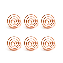 24 Pcs Table Number Holders Ring Shape Card Holder Circle Stereo Note Pad Menu Clips